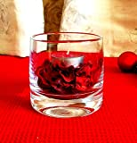 Hand Crafted Glass Potpourri Bowl 7.8 cm high | Tea Light Holder | Tea Light Included