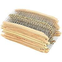 KKmoon 1500PCS Kit de Resistencias de película de carbono 75 valores de 1 ohm a 10 m ohm 1 / 4W 5% Surtido Componentes electrónicos