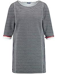 82d12214f9fcb6 Samoon Damen T-Shirt 3/4 Arm Rundhals Tunika aus Struktur-Jersey elastisch