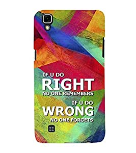 FIOBS If You Are Right No One Remembers Designer Back Case Cover for LG X Power :: LG X Power K220DS K220