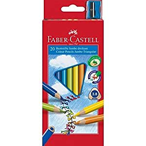 faber castell 116520 buntstifte triangular jumbo 20er. Black Bedroom Furniture Sets. Home Design Ideas