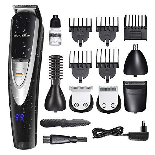 MIGICSHOW Haarschneidemaschine, 5 In 1 Profi Haarschneider Männer Haartrimmer Bartschneider Präzisionstrimmer Herren Wasserdicht
