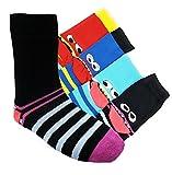 Kinder Socken handgekettelt Spitze ohne Naht 6 Paar aus besonders weicher Baumwolle bunter Mix Gr. 19-42 (23-26, Coole Socke)