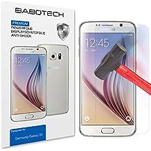 2 x Set BaboTech® Premium Panzerfolie Display Schutzfolie für Samsung Galaxy S6 (5.1 Zoll) Klar Extrem Shock-Absorbierend