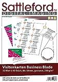 Sattleford Visitenkarte bedruckbar: 320 Visitenkarten weiß strukturiert Inkjet/Laser 230 g/m² (Visitenkarten-Papier für Drucker)