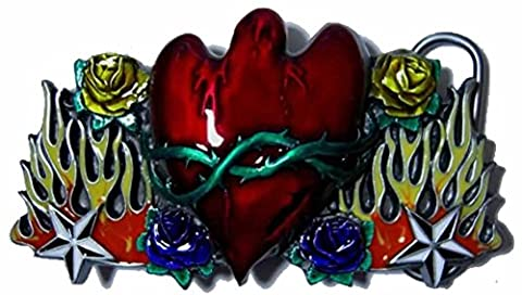 Weeping Heart Belt Buckle with display stand