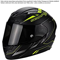 Scorpion Casco Moto EXO-2000 EVO AIR Cup, Black/Chameleon/Fluo Yellow, S - Evo Air