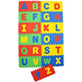 """Archana NHR Play Puzzle Style Mat With English Alphabets Set Of 26 Pcs 12"""" X 12"""""""