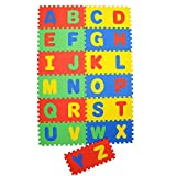 "NHR Play Puzzle style mat with English Alphabets set of 26 Pcs 12"" X 12"""