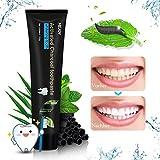 Aktivkohle Bambuskohle schwarze Zahnpasta, Y.F.M Whitening Toothpaste Natürliche Zahnaufhellung und Zahnreinigung, frischer Atem Zahn schützen