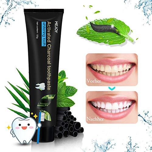Aktivkohle Bambuskohle schwarze Zahnpasta, Y.F.M Whitening Toothpaste Natürliche Zahnaufhellung und Zahnreinigung, frischer Atem Zahn schützen -