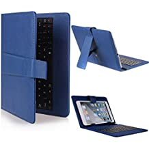 """Funda con teclado para tablet en español (incluye letra Ñ) Bq Edison 2 Quad Core 10.1"""" - Azul (Teclado Negro)"""