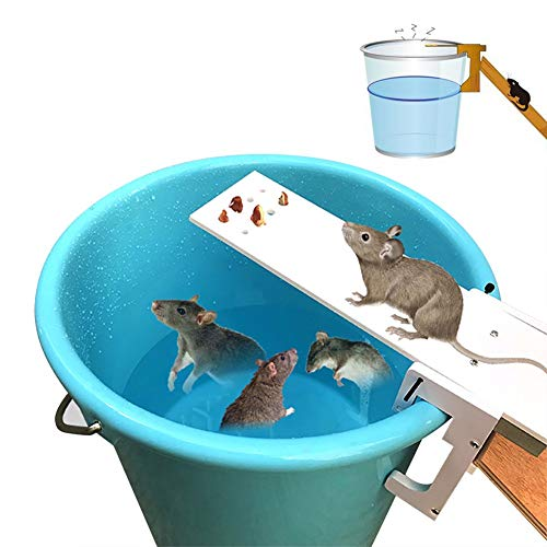 SMASTORE Plank Mouse Trap, Walk The Plank Mouse Trap, Humane Mouse Traps Bucket Auto Reset Kill/Live Catch Mice Rats Pests and Rodents Non-Toxic Bait Mouse Traps Toxic
