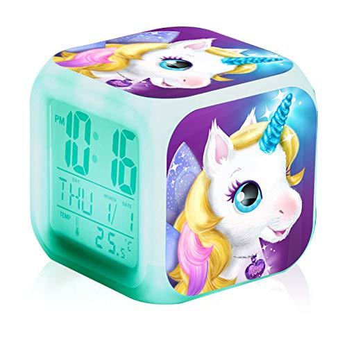 Funmazit Unicornio Despertador Digital Electrónico