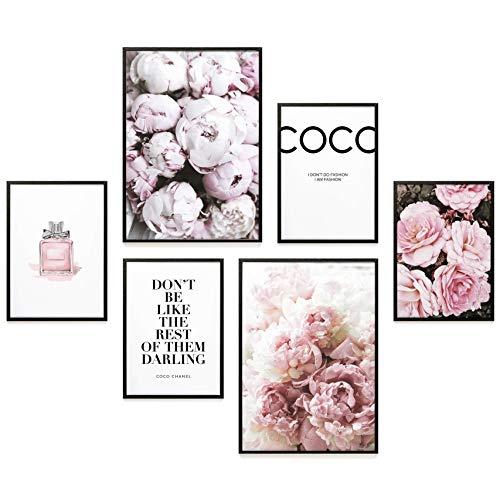 Heimlich® Premium Poster Set | Stilvoller Mix an passenden Bildern für Dein Zuhause | ohne Rahmen » Coco Chanel «