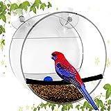 NewCrea Wild Bird Feeder Station,Window Bird Feeder With Strong Suction Cup For Kids,Children