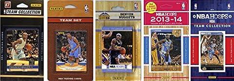NBA Denver Nuggets 5 Different Licensed Trading Card Team Sets, Brown, One Size