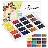 Acuarela Color Juego de gran calidad de elegir: 16o 24colores–Calidad de Sonnet (16unidades)