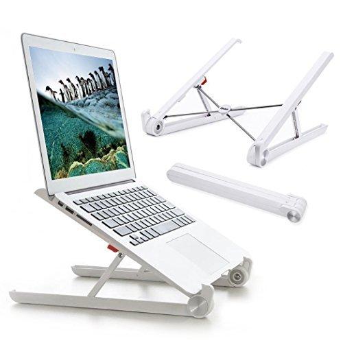 Laptopständer,Elekin [Neufassung] Faltbarer Laptop ständer Notebook Ständer, Augen-Niveau Ergonomisches Sitz für Macbook-Computer, Notebook Stand leicht für Büro und Reisen (Silber)