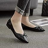 Eeayyygch Gericht Schuhe ~ Tip Flats Pumps Flache Ferse Schuhe Komfortable Low Heel Freizeitschuhe Pedal Schuhe 36, Schwarz (Farbe : -, Größe : -)