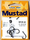 #8: Mustad Iseama Twist Hook 2X Ringed Forged Kirbed 10902SP Fishing Hooks (Pack of 8 Pcs) (Size: 9)