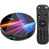 Bqeel Android 9.0 【4G+32G】 TV Box Bluetooth 4.0 R1 Pro RK3318 Quad-Core 64bit Cortex-A53 USB 3.0 Box Android TV LAN100M Wi-FI 2.4G/5G Box TV 4K Android TV