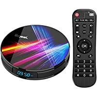 Bqeel Android TV Box【4G+32G】 R1 PRO Android 9.0 TV Box mit RK3318 Quad-Core 64bit Cortex-A53/ unterstützt WiFi 2.4G/5.0G /Bluetooth 4.0/ 4K/HD/ USB 3.0/H.265 Smart tv Box Android Box