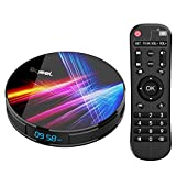 Bqeel Android 9.0 TV Box R1 Pro / 4G DDR3+32G EMMC/ RK3318 Quad-Core 64bit / Dual WIFI 2.4/5G + 100M LAN, TV box android Bluetooth 4.0/USB 3.0/ 3D 4K Android TV (4G+32G)