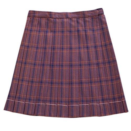 Mädchen Schule hohe Taille Plaid Mini Tunika Rock voller Falten Uniformen