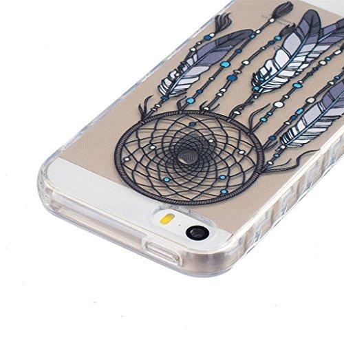 MYTHOLLOGY Coque iPhone 5s /iPhone 5 /iPhone SE Coque Silicone Transparente Souple Housse Protection Antichoc Etui YYQE HSFL
