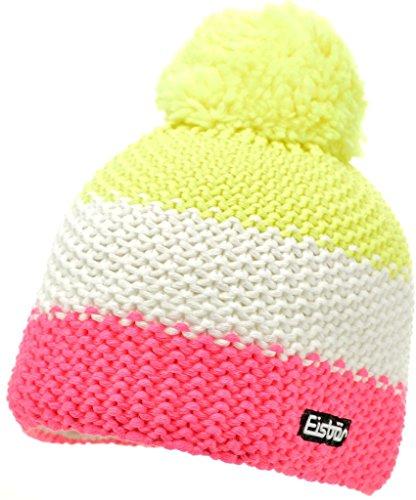 Eisbär Star Neon Pompon Mütze Kids One Size | pink/weiß/gelb