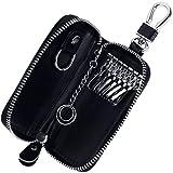 Rovtop Estuches de llave- Capacidad:una Llave de Moto o Coche y unas Pequenas Llavero de Piel con...