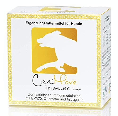 CaniMove immune maxi (EPA70 + Astragalus-Extrakt + Quercetin), 1 Pkg (100 Kapseln) Ergänzungsfuttermittel für Hunde mit hochkonzentrierter Eicosapentaensäure (EPA als TG) zur Immunmodulation.