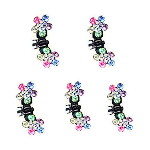 Belle bijoux filles fleurs clips cheveux Mini, 5 comte, Colorful