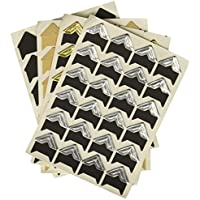 PuTwo Paquete con 8pegatinas autoadhesivas para esquinas para montaje de álbumes de fotos o álbumes de recortes HUM, Pure, 15.4 x 9.8 x 4.4 cm