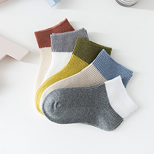 Socken, Kinder Socken Socken ohne Knochen Naht Short Tube Schweiß absorbieren, Junge Tc 001, Im Alter von 5-8 6 Paar (Neugeborene Jungen Tube-socken)