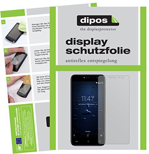 dipos I 2X Schutzfolie matt passend für Cubot Note Plus Folie Displayschutzfolie