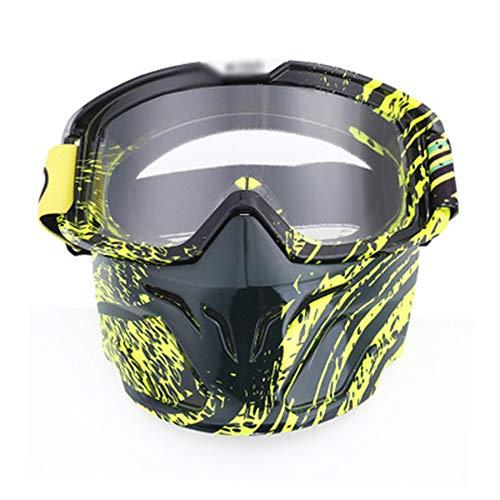 KTCLE Schwimmbrillen FüR Erwachsene Maskieren Sie Eine Brille, Motocross-Skilaufen Im Freie (Zum Verkauf Purge-maske)