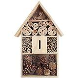Hôtel à insectes en Bois naturel 39 x 29 x 9 cm - Nichoir - Abri hiver insectes