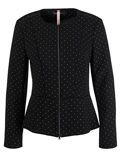 Marc Cain Additions Damen Jacke Mehrfarbig (Black And White 910)