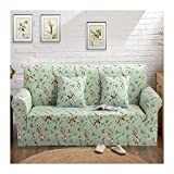 WUFANGFF Slipcover Blumenmuster Stretch Sofa Gestrickter Stoff Schonbezug Couch Covers Sofa Furniture Protector, 2Seat