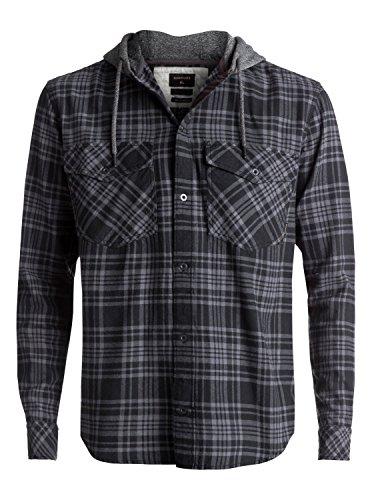 Quiksilver Snap Up Flannel - Long Sleeve Hooded Shirt - Männer (Quiksilver-snap)
