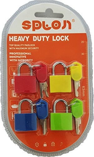 My Party Suppliers Multicolor Luggage Lock (Set of 4)