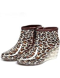 Y&JAXIE Botas de lluvia para mujer / pendiente plana con botas de lluvia / botas cortas de tacón alto / Zapatos de agua para lluvia , 1 , 38