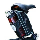 Selighting Borsa da Sella Impermeabile Sacchetto Posteriore Telaio da Bici Sedile con Tasca Porta-Borraccia per Ciclismo/MTB/Bici 1,8L (Blu)