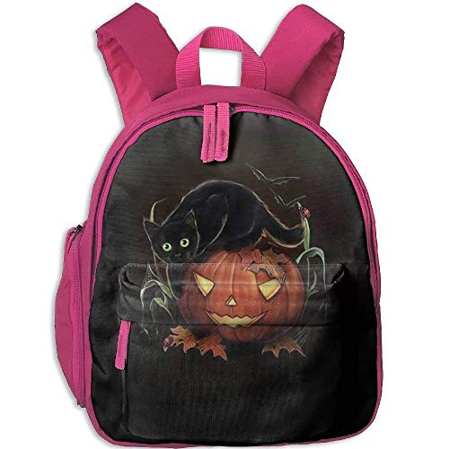 (Funny Schoolbag Backpack Halloween Pumpkin Lantern and Black Cat Kid and Toddler Student Backpack School Bag Super Bookbag)