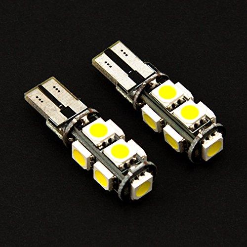 Preisvergleich Produktbild XENON - WEISSE STANDLICHTBIRNEN 2 x T10 W5W mit 9x POWER SMD / LED Standlichtlampen KALT WEISS STANDLICHT Auto birne soffite Jurmann®