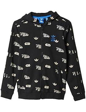 adidas Originals Star Wars Millenium Falcon cremallera sudadera con capucha Juniors blackhoodie chaqueta