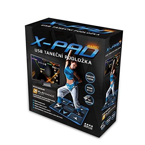 X-PAD Basic Dance Pad, USB-Tanzmatte, PlayDance edition (PC+MAC) - Tanzspiel und Songs inklusive, einfache Erweiterung mit Ihren Lieblingssongs