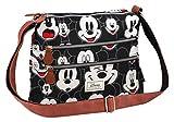 Disney Classic Mickey Visages Umhängetasche, 30 cm, Schwarz (Negro)